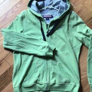 Vineyard Vines green hooded sweatshirt size large